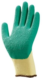 Handschoen grip latex groen/geel extra large