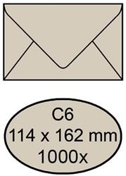 Envelop bank 114x162mm 70gr bruin 1000stuks