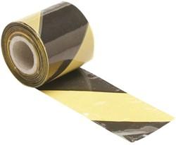 Signaliseringslint 100 meter geel zwart