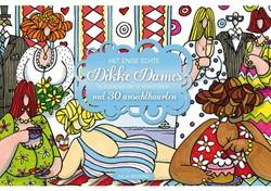 Kleurkaarten voor volwassenen echte dikke dames 30stuks