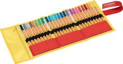 Fineliner Stabilo 88 roletui geel/oranje à 25 stuks assorti