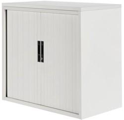 Roldeurkast 20H wit met topblad wit