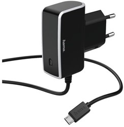 Oplader Hama Micro USB zwart