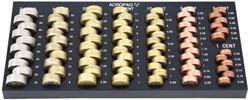 Geldsorteerbak Acropaq euro 306x149x22mm zwart