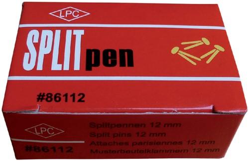 Splitpen LPC 12mm doos 100stuks goud