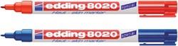 Viltstift edding 8020 huid rond rood 1mm