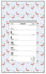 Weekscheurkalender 2018 Foqus flamingo