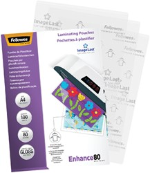 Lamineerhoes Fellowes A4 2x80micron 100stuks