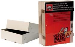 Paraatdoos CleverPack A5 218x155x55mm voor 500vel wit 10st
