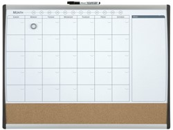 Whiteboard Duobord Rexel 58.5x43cm panning gewelfd