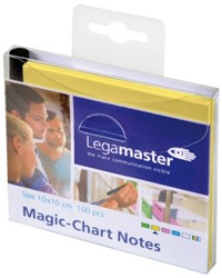 Magic-chart notes Legamaster 10x10 cm geel