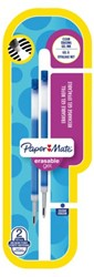 Gelschrijvervulling Papermate Inkjoy erasable medium blauw