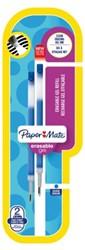 Gelschrijvervulling Papermate Inkjoy erasable fijn blauw
