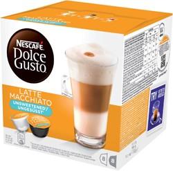 Koffie Dolce Gusto Late Machiato Unsweetened voor 8 kopjes