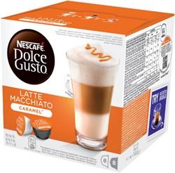 Koffie Dolce Gusto Late Machiato Caramel voor 8 kopjes