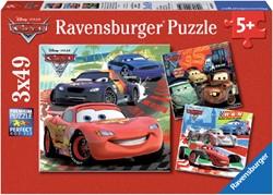 Puzzel Ravensburger Cars 2 wereldwijde race 3x 49 stuks