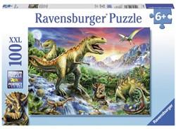 Puzzel Ravensburger bij de dinosaurussen 100 stuks
