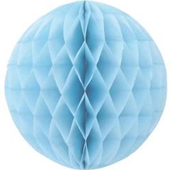 Pompom 30cm baby blauw