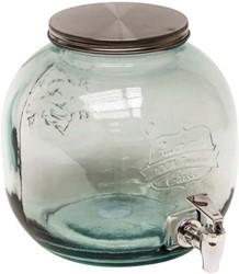 Drinktap 6 liter glas 23x24cm