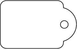 Label Apli karton nr395 45x65mm wit 400stuks