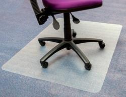 Stoelmat Floortex PVC 120x90cm voor zachte vloeren