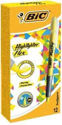 Markeerstift Bic flex geel