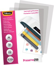 Lamineerhoes Fellowes A4 2x250micron 100stuks