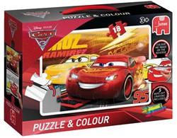 Kleurpuzzel Jumbo Cars 3 18 stukjes