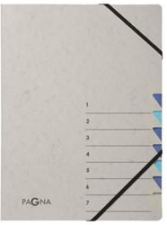 Sorteermap Pagna Easy 7 tabs A4 PP grijs/blauw