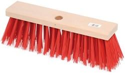 Straatbezem kunstvezels 29cm rode haren gat Ø23,5mm