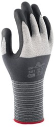 Handschoen Showa 381 grip nitril grijs large