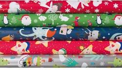 Inpakpapier kerst kids stories 200x70cm ass