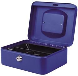 Geldkist Pavo 200x160x90mm blauw