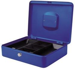 Geldkist Pavo 300x240x90mm blauw