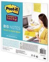 Scrum Big Notes 3M Post-it 27.9x27.9cm geel-1