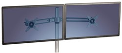 Zit-Sta monitorarm Fellowes dubbel zwart