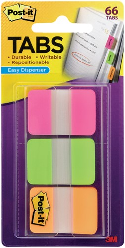 Indextabs 3M Post-it 686 25x38mm strong assorti