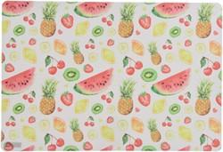 Placemat PP 29x42,5cm wit met fruit opdruk