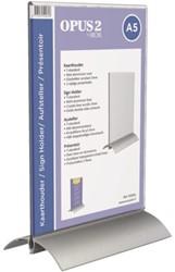 Kaarthouder OPUS 2  A5 T-standaard acryl aluminium