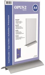 Kaarthouder OPUS 2  A4 T-standaard acryl aluminium