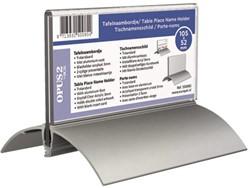 Tafelnaambord OPUS 2 52x100mm acryl aluminium