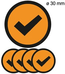 Magneet check 30mm oranje