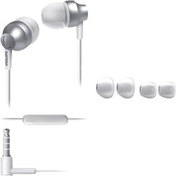 Oortelefoon Philips in ear SE3855S zilver/wit