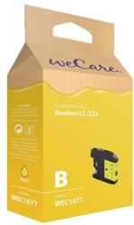 Inkcartridge Wecare Brother LC-223 geel
