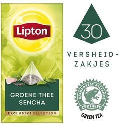 Thee Lipton Exclusive Groene thee Sencha 30 piramidezakjes