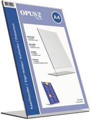 Tafel folderstandaard Opus2 A4 staand glashelder