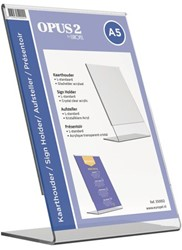 Tafel folderstandaard OPUS 2 A5 staand glashelder