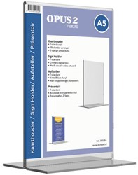Tafelstandaard Opus2 A5 staand glashelder