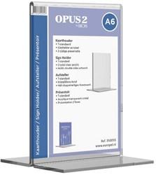 Tafelstandaard OPUS 2 A6 staand glashelder