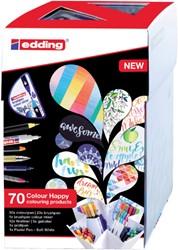 Brushpen edding 69+1 Colour Happy 70-delig assorti